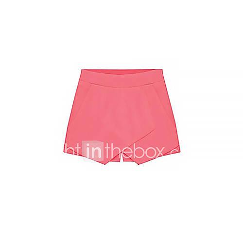 De las mujeres Pantalones Cortos - Casual Rígido - Mezclas de Algodón Descuento en Lightinthebox
