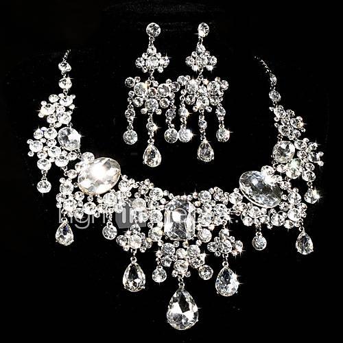 Conjunto de joyas De mujeres Aniversario / Boda / Ocasión especial Sets de Joya Aleación / Diamantes Sintéticos Collares / Pendientes Descuento en Lightinthebox