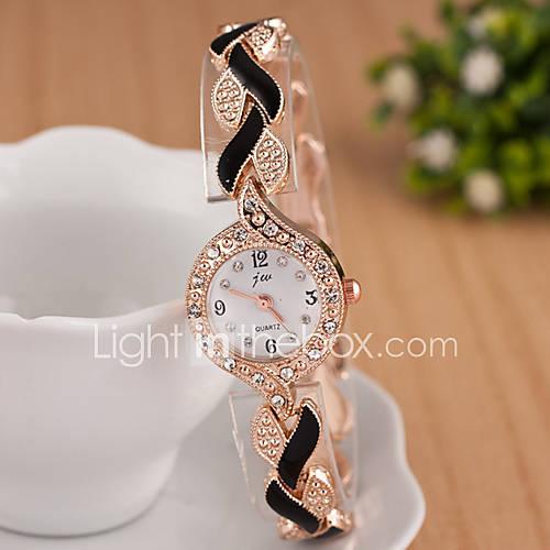 Mujer Reloj de Moda / Reloj de Pulsera Cuarzo La imitación de diamante Metal Banda Destello Negro / Blanco / Azul / Rojo / Morado Marca Descuento en Lightinthebox