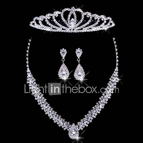 Conjunto de joyas De mujeres Aniversario / Boda / Pedida / Cumpleaños / Regalo / Ocasión especial Sets de Joya AleaciónDiamantes Lightinthebox