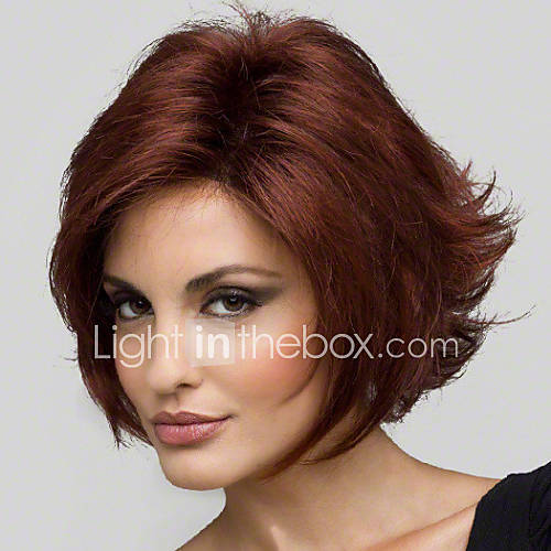 Wine Red Short Wigs 13