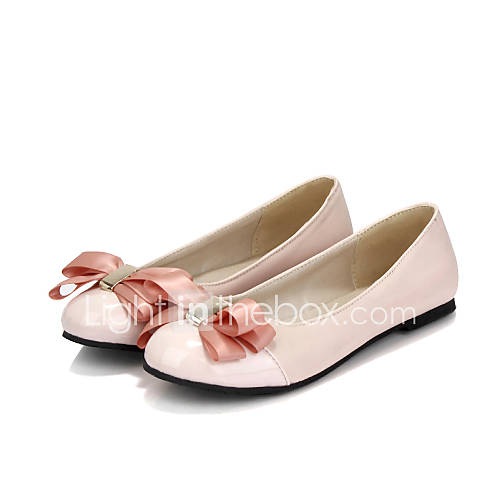 s shoes patent leather flat heel comfort toe