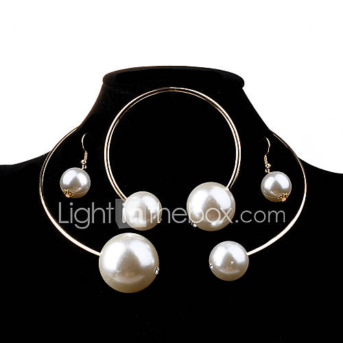 Joyas Collares / Pendientes Collar / pendientes Cumpleaños / Pedida / Boda / Fiesta / Diario / Casual Legierung / Perla Artificial 1 Set Lightinthebox
