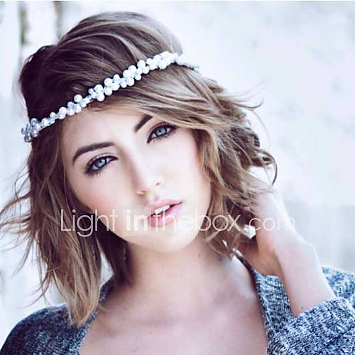 Wedding Headpieces With Forehead Jewelry: Women Pearl Headbands/Forehead Jewelry With Imitation