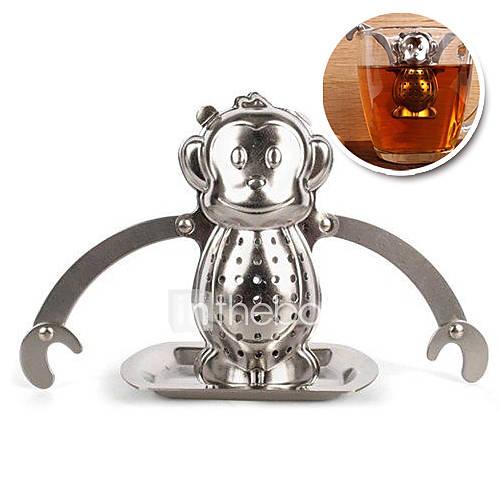 acero inoxidable mono infusor colador de té que cuelga con la bandeja de goteo Descuento en Lightinthebox