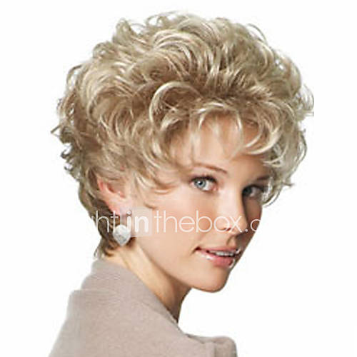 201504: Beautiful Blonde Fashion Style Short Curly Hair Wig