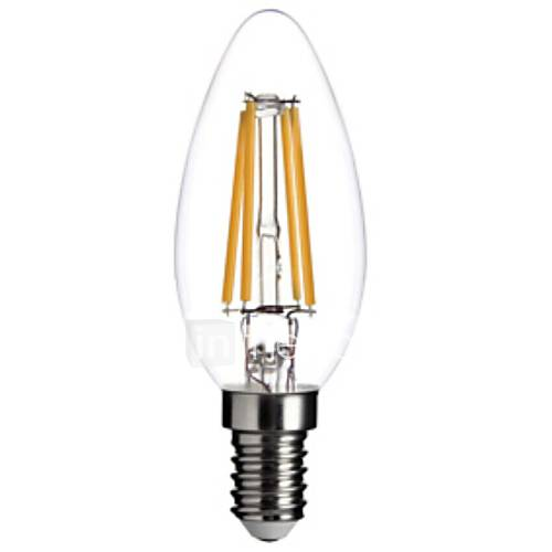 4w e14 led filament bulbs c35 cob 400lm lm warm white dimmable decorative ac 220 240 v 1920882. Black Bedroom Furniture Sets. Home Design Ideas