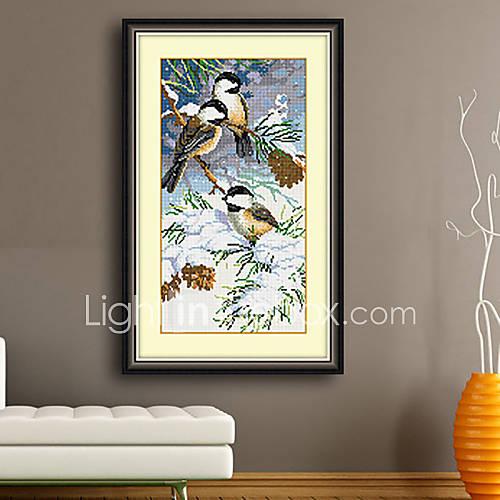 Wall Decor Cross Stitch : Birds home painting decor living room diamond cross stitch