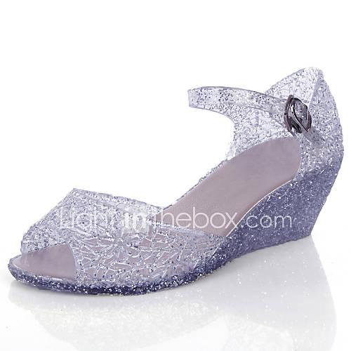 s shoes pvc wedge heel wedges peep toe sandals dress