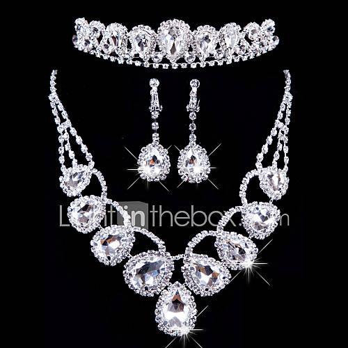 Conjunto de joyas De mujeres Aniversario / Boda / Pedida / Cumpleaños / Regalo / Ocasión especial Sets de Joya AleaciónDiamantes Descuento en Lightinthebox