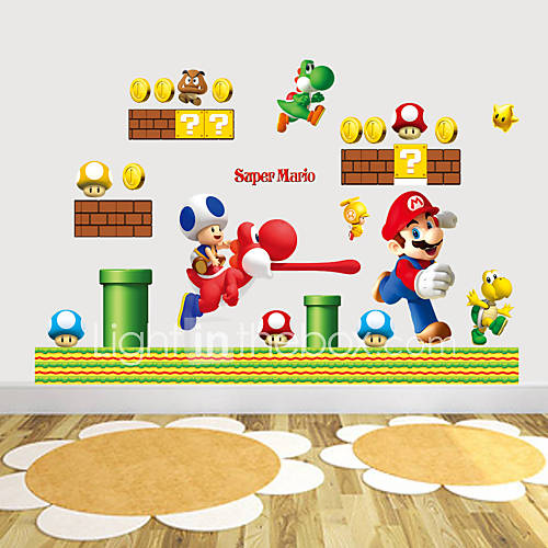 Wall Stickers Wall Decals Style SUPER MARIO PVC Wall Stickers