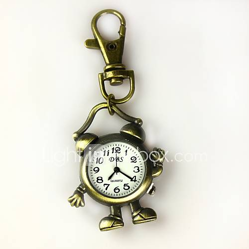 Women's Shape Of The Alarm Clock Keychain Watch Cool ...
