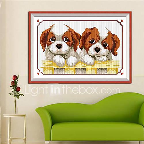 Dog home decoration living room diamond cross stitch for Home decor 90 off