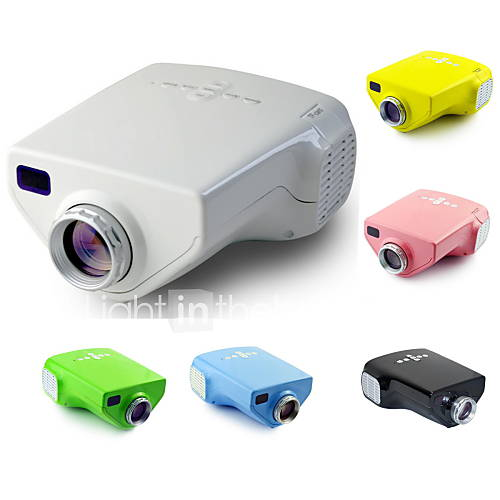 Ejiale e03 lcd mini projector hvga 480x320 50lm led for Miniature projector