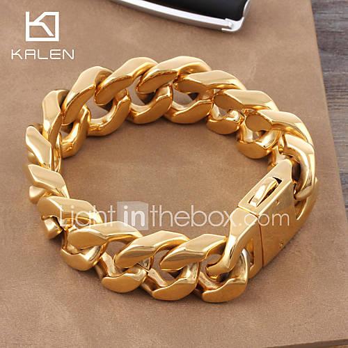 Cadenas De Oro Italiano 14k: Kalen 2015 Men's Jewelry Stainless Steel High Quality