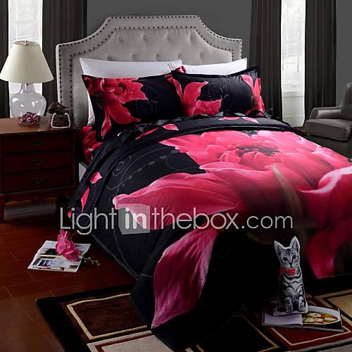 housse de couette draps 4 pi ces imprim es costume 3d. Black Bedroom Furniture Sets. Home Design Ideas