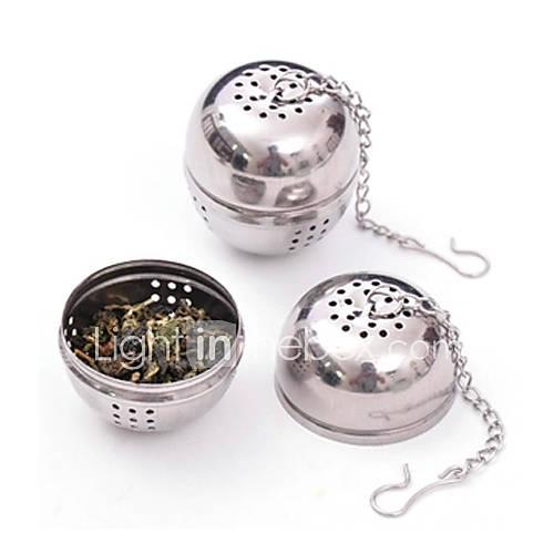 acero inoxidable infusor de té colador de malla de filtro de bloqueo bola especia 8.5×4.5x4cm Lightinthebox
