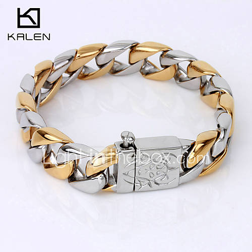 Cadenas De Oro Italiano 14k: Kalen Men's Jewelry High Quality China Factory Bracelet