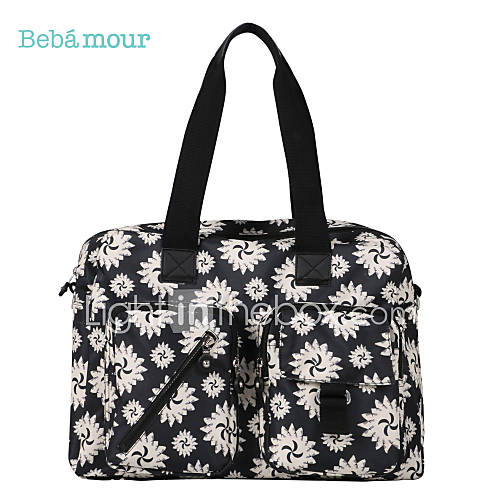 bebamour baby diaper bag mommy backpack unisex casual polyester zipper totes. Black Bedroom Furniture Sets. Home Design Ideas