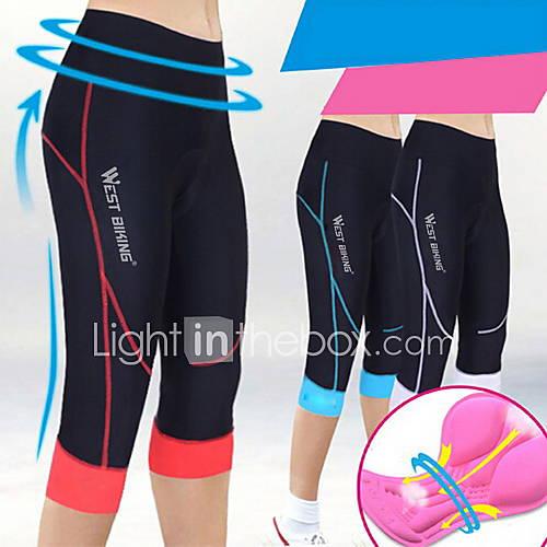 OESTE CICLISMO Pantalones Acolchados de Ciclismo Mujer Transpirable / Secado rápido / Compresión / Almohadilla 3D / Antibacteriano Lightinthebox