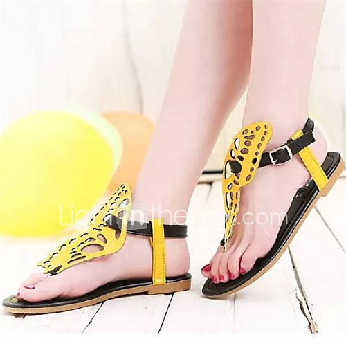 s shoes flat heel toe ring sandals dress black