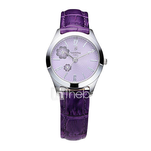 s water resistant white leather band quartz