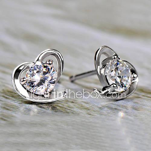 Pendiente Forma de Corazón Pendientes cortos Joyas Piedras Descuento en Lightinthebox