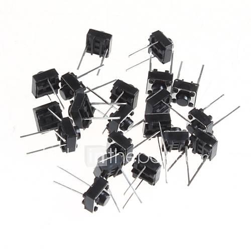 6  6  Botón micro 5mm tecla táctil interruptor de encender dos pequeños pies horizontales (20pcs) Descuento en Lightinthebox