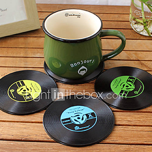 Vintage Vinyl Coaster Groovy CD Record Table Bar Drinks Cup Mat 1Pc (Ramdon Color)