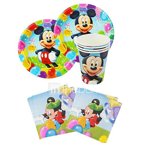 56pcs mickey mouse cumplea os del beb decoraci n - Decoraciones para bebes ...