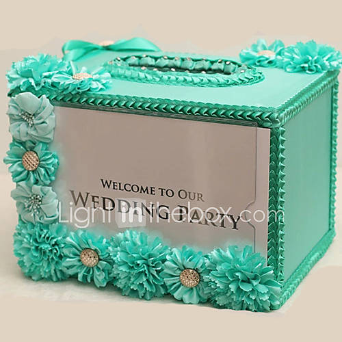 wedding gift card box for party baby shower birthday with ribbon