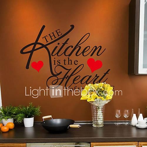 adesivos de parede decalques de parede em estilo inglês as palavras de cozinha&cita parede adesivos pvc