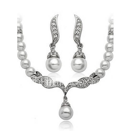 Collar / Pendiente ( Aleación / Zirconia Cúbica / Perla de Imitación )- Vintage / Fiesta / Casual para Mujer Lightinthebox