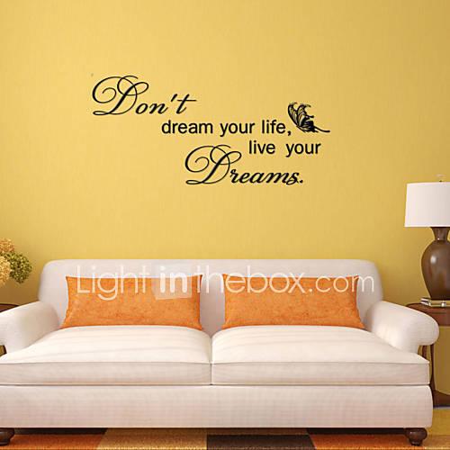 adesivos de parede adesivos de parede sonho estilo inglês palavras&cita parede adesivos pvc