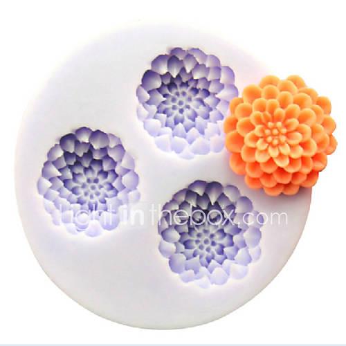 en forma de flor de silicona para hornear moldes de cocción de la torta de chocolate fondant caramelos (colores aleatorios) Descuento en Lightinthebox