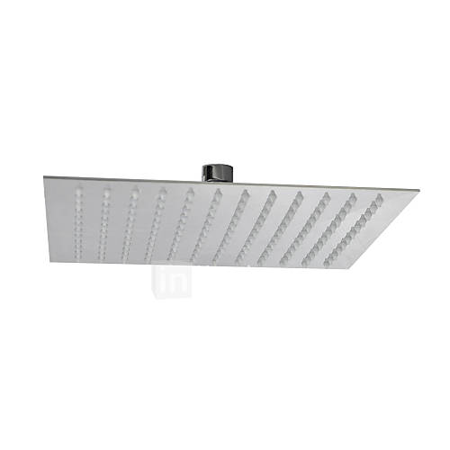 Stainless Steel Overhead Rain Shower Head Bathroom 10 Inch Ceiling Ultra Thin