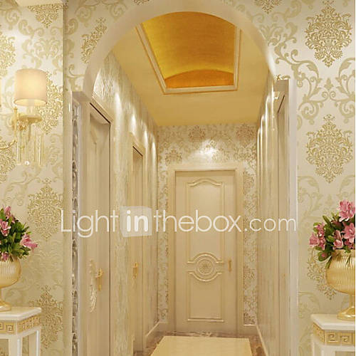 New rainbow classical wallpaper art deco gold foil for Wall covering paper