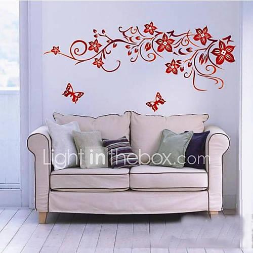 donker rode bloem kunst aan de muur zooyoo1702 woonkamer diy ...