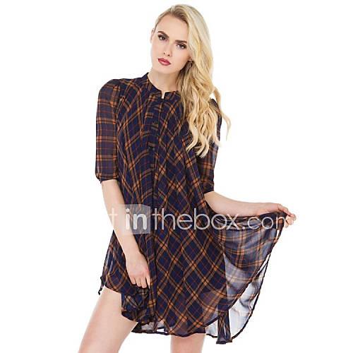 dames-casual-dagelijks-eenvoudig-ruimvallend-jurk-gestreept-ronde-hals-boven-de-knie-halflange-mouw-overige-alle-seizoenen-medium-taille