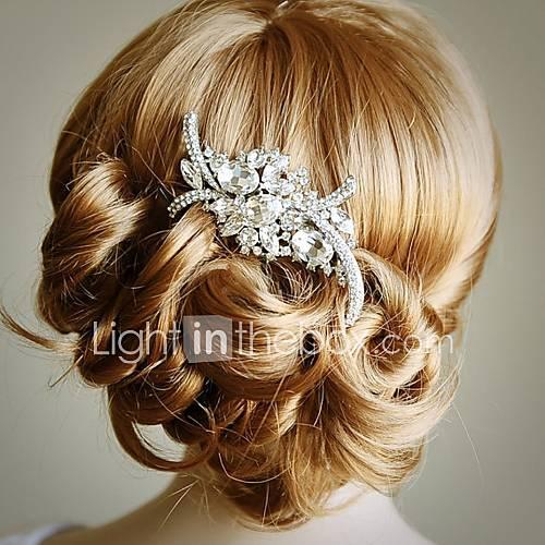 Diamond Bridal Hair Comb Art Crystal Rhinestone Wedding