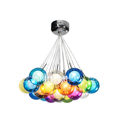 Pendant Lighting Colored Glass : Umei modern bubble globe colored glass pendant light with