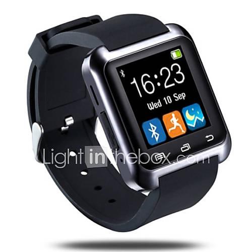 Bluetooth3.0 reloj inteligente podómetro sueño monitorear mensaje de llamada de sincronización para el teléfono androide Descuento en Lightinthebox