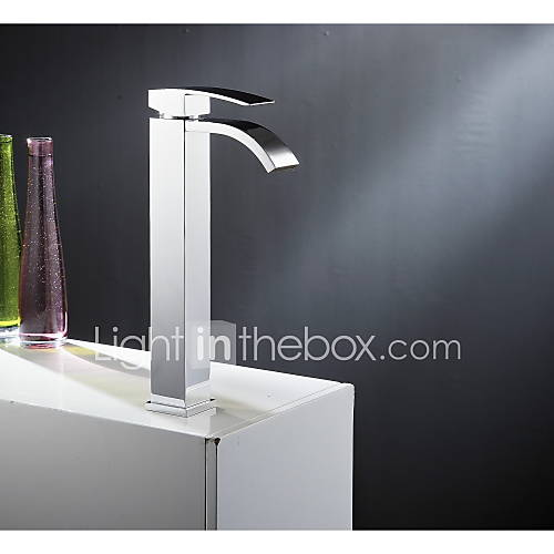 single handle waterfall bathroom vanity sink vessel faucet with extra