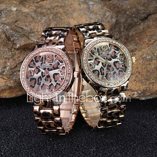 relógio de pulso de alto grau de boa qualidade genebra correia de aço relógio de quartzo analógico relógio de pulso de moda ladies '