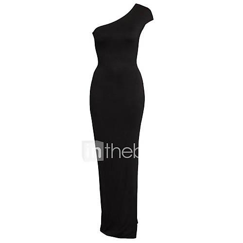 wijde-boothals-spandex-polyester-blote-rug-maxi-vrouwen-jurk-mouwloos