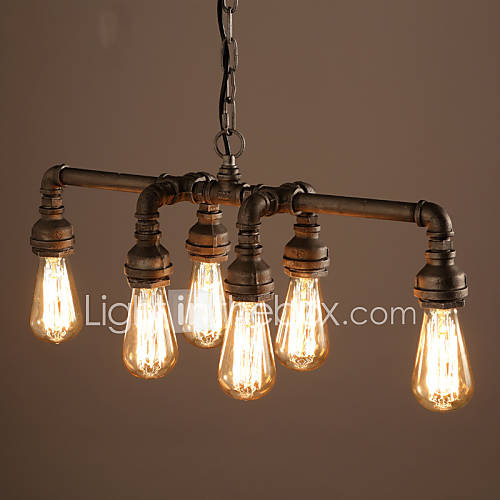 Edison retro loft style vintage industrial pendant light for Luminaire metal
