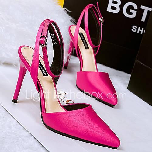 s shoes silk stiletto heel heels pumps heels