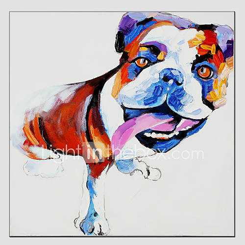 Oil painting cool dog style canvas material with for Materials for canvas painting