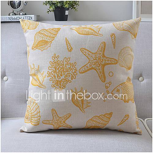 Modern Style Sea Life Cotton/Linen Decorative Pillow Cover 3765012 2016 ? $10.49