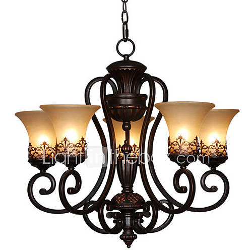 Antique Style Dining Room Chandeliers: Max 60W Chandelier , Vintage / Country / Island Painting